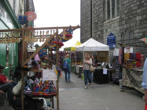 Market outside St. Nicholas Church