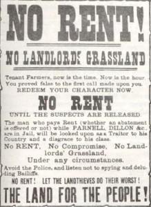 Land League Poster, 1880s